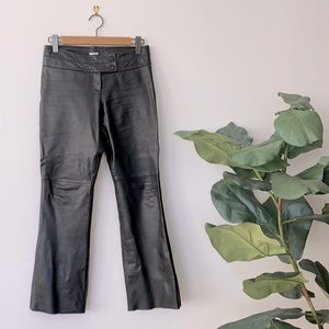 Vintage 90's Cache Leather Flare Pants Size 2